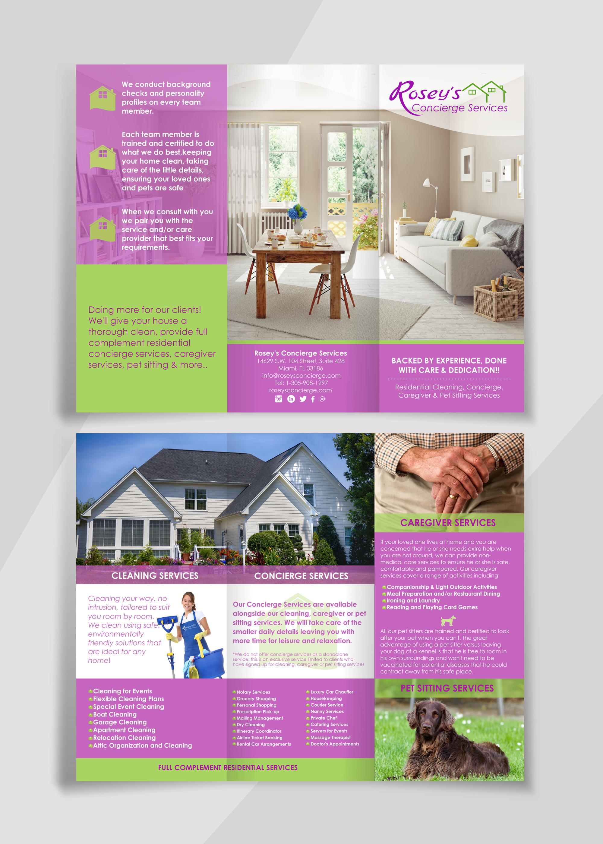 Brochure Presentation - Rosey's Concierge